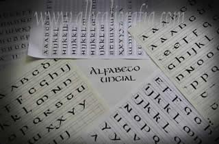 Worksheets uncial letter