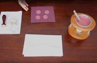 How to make sealing wax medallions