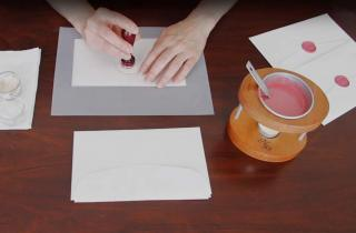 How to wax seal several envelopes using a personal wax sealer