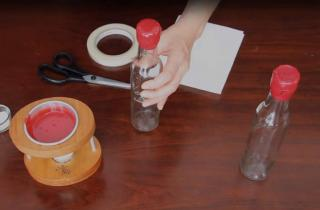 How to wax seal bottles with a personal melting pot