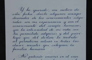 Transcript of the second part of the letter from General Alvaro Obregon to his son Humberto
