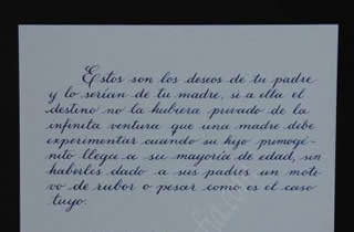 Transcript of the sixth part of the letter from General Alvaro Obregon to his son Humberto