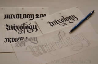 Sketches for Mixology logo