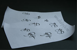 Calligraphy for letters AD