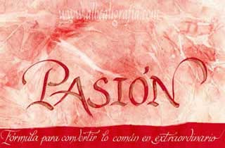 Calligraphic text over passion