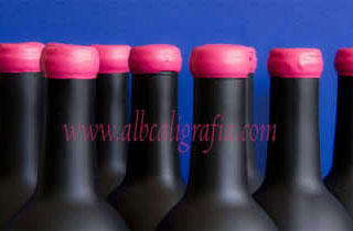 Black bottles with pink sealing wax