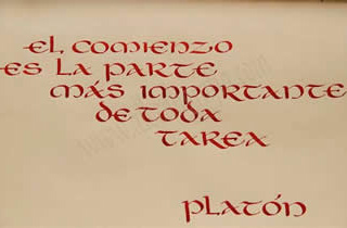 Phrase of Plato: The start in the most important task of all