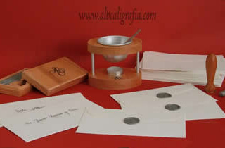 Sealing wax set with special seal, personal sealer, sealing wax bars and envelopes