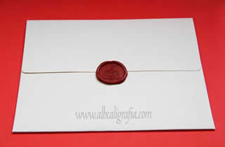Sealed envelope with the coat of Guadalajara