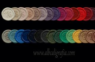 Sealing wax stickers in 30 diferent colors, ALB brand