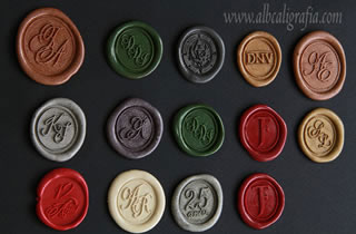 Sealing wax stickers  with different colors and different designs