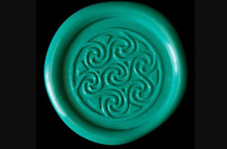 Sealing wax sticker in aqua color