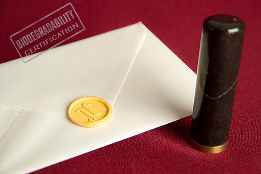 sealing wax seal logotype de luxe